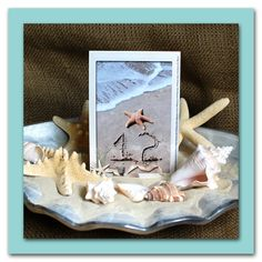 Beach Starfish Shell SeasideTable Number Cards by Sandwriting by the Sea on Etsy