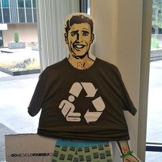 Scalpel Pal, Steve, tries on a new Go #Recycle Yourself t-shirt. Stylin', Steve!