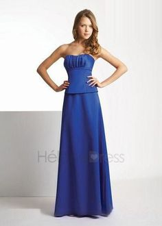 Sappire Blue Sweetheart A Line Formal Evening/Bridesmaid Dresses - Bridesmaid Dresses Less Than $100 - Bridesmaid Dresses