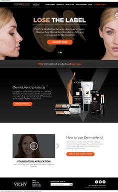 Take a look at the redesign of L'Oreal's Dermablend #Website, designed by our team here at New Brand Vision.  #webdesign #beauty #cosmetics