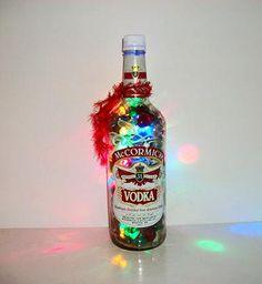 Liquor Bottle Lamp  Lighted Bottles  Home by AuroraBottleLights, $33.00