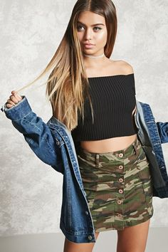 Camo Print Mini Skirt - Women - 2000251693 - Forever 21 EU English
