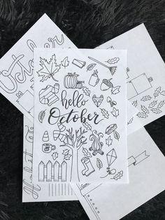 Free Printable Bullet Journal Setup for October