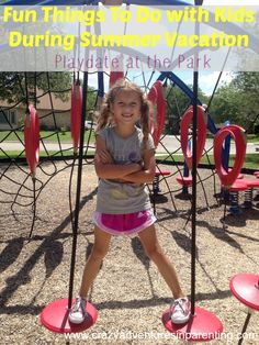 Fun Things To Do with Kids During Summer Vacation – Playdate at the Park