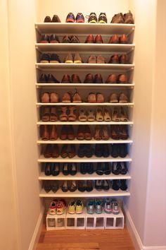 Master Bedroom Closet Organization & Remodel Shoe Organization