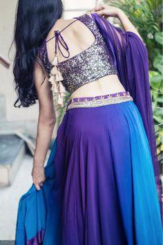 Buy SALAAM-E-ISHQ_Sequin blouse, purple and blue ombre lehenga #lehenga #croptop #sariblouse #sexyblouse #desibridesmaids101 #desibridesmaids #americandesi #thepeachproject #indianbridesmaids #desibride #southasianwedding #engagementphotoshoot #registrybride #londondesi #bridalparty #fallcollection #festiveseason #lengha #red #vintagechic #sangeet #cocktail #mymasakali #masakali #lehengalove #trousseau #bridalwear #indianweddingsvancouverbc #sangeet #cocktail