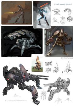 Star Wars droid and vehicle concepts