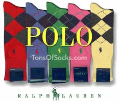 Men's Ralph Lauren Polo Argyle Socks. Colorful Argyle Socks.