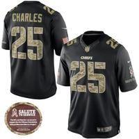 Oficiální Limited dres Kansas City Chiefs Jamaal Charles Salute To Service