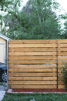 Our Privacy Fence Solution - Cedar Panel DIY - Smile And Wave