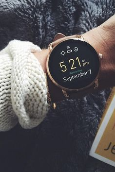 Fossil Sweater weather calls for arm candy accessories (or a new rose-gold tech gadget). Add this Q Wander smartwatch to your wrist and you'll never want to leave the house without it again. Smartwatch, Jewelry Accessories, Fashion Accessories, Cheap Jewelry, Gold Jewelry, Fine Jewelry, Jewelry Shop, Jewellery, Fashion Jewelry