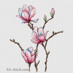 Магнолия | SA-stitch