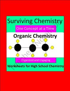 Organic Chemistry - Organized & Engaging Worksheets for High School Chemistry product from E3Chemistry on TeachersNotebook.com