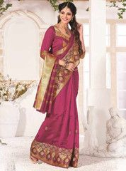 Pink Color Bhagalpuri Function & Party Wear Sarees : Samridhi Collection YF-31593