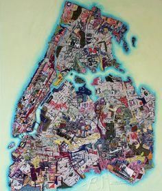 "Saatchi Art Artist Ruben Marroquin; Painting, ""New York City Map"" #art"