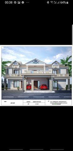 Kerala House Design, Unique House Design, Victorian Style Homes, Victorian House, Kerala Houses, Bungalow House Design, Luxury House Plans, Victorian Fashion, House Colors