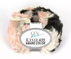 LINIE 435 AMARE COLOR - superweiches, pelzoptik Garn - leicht zu stricken für pflegeleichte Modelle - ideal für Kurzjacken und Verbrämungen Fur Slides, Beauty, Collection, Color, Fashion, Amigurumi, Simple Lines, Fur, Threading
