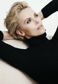 Charlize Theron: Karim Sadli Photoshoot 2014 for Dior Pretty makeup-eyes in . - Celebritys Charlize Theron: Karim Sadli Photoshoot 2014 for Dior Pretty makeup-eyes in . Short Hair Cuts, Short Hair Styles, Pixie Cut Blond, Pretty Makeup, Female Portrait, New Hair, Hair Makeup, Makeup Eyes, Hair Beauty