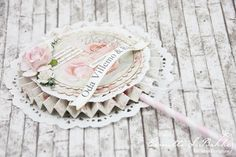 ROSETTE DOILY WAND - inspiration for loaded envelopes - Camilla S Bakke