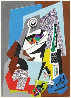 """Text + image from Mid-Centuria.  Though Italian artist Gino Severini (1883-1966) is probably best known for his involvement with the Futurist Movement, his work was also influenced by Divisionism, Neo-Classicism, Cubism and the """"return to order"""" movements. Severini moved between Paris and Rome for much of his life and was considered an important link between artists in France and Italy; introducing his Italian Futurist colleagues to Cubism which he experienced in Paris. For more information…"""