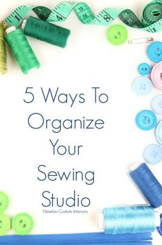Ways To Organize Your Sewing Studio Organize your sewing studio, including supplies and tools with these 5 great ideas.Organize your sewing studio, including supplies and tools with these 5 great ideas. Sewing Room Design, Sewing Room Storage, Sewing Spaces, Sewing Room Organization, My Sewing Room, Sewing Studio, Sewing Rooms, Craft Storage, Organizing Ideas