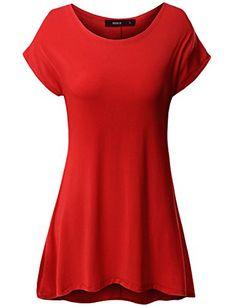 Doublju Women Short Sleeve Round Neck Loose Fit Long Tunic Top     Learn  more e316e70cb