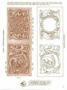 leather tooling border pattern