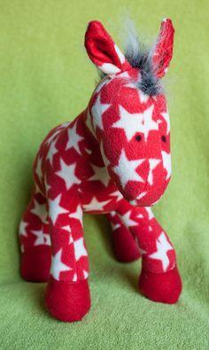 Sir Horsington the Plush Microfleece Horse by EstherMouse on Etsy, £30.00