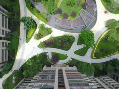 Landscape Design Plans, Landscape Elements, Landscape Architecture Design, Green Architecture, Urban Landscape, Site Analysis Architecture, Green Tower, Parking Design, Public Garden