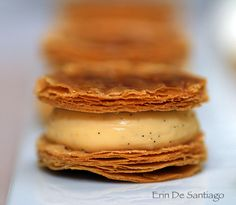 Mille Feuille French pastry from Sweet Tea by Michelin-starred chef Yannick Alleno inside of Taipei 101 in Taiwan.