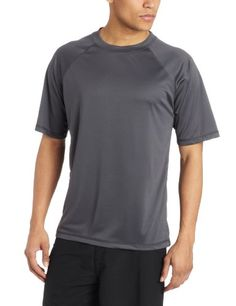 Kanu Surf Mens Solid Rashguard UPF 50 Swim Shirt Charcoal XLarge <3 Click the VISIT button to enter the Amazon website