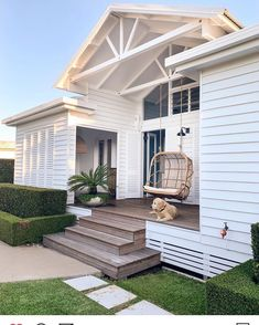 31 Popular Beach House Exterior Design Ideas You Will Love - A beach house design isn't just one particular look. Coastal abodes can differ in shape, size, and, most importantly, color. Your home by the ocean do. House Inspo, House Plans, Home, House Exterior, House Design, Beach House Interior, New Homes, Beautiful Homes, House Goals