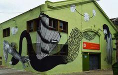 Pelos de Pluma, Nicholas Alfalfa  Irene Lasivita in Uruguay #streetart #uruguay