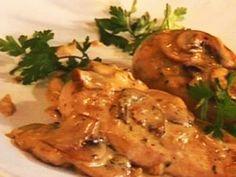 Kipfilet met verse champignons in Goudse kaassaus