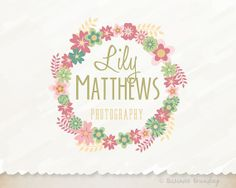 Floral Logo DesignShabby Chic LogoPremade by BusinessBranding, $25.00