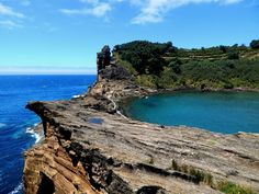 An ocean inside an island Ilhéu da Vila Vila Franca do Campo Sao Miguel Azores Portugal [OC] [4608x3456].   landscape Nature Photos