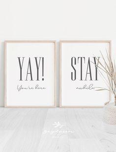 Guest Room Sign, Guest Bedroom Decor, Guest Room Office, Guest Bedrooms, Bedroom Ideas, Bedroom Quotes, Wall Art Sets, Woodland Nursery, Handmade Shop