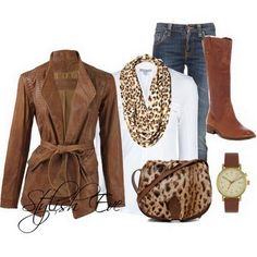Winter 2013 Outfits for Women by Stylish Eve. I love leopard with balance in an outfit.