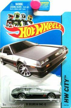 1981 DeLorean DMC-12 2014 Hot Wheels HW CITY #32/250 Silver & Black