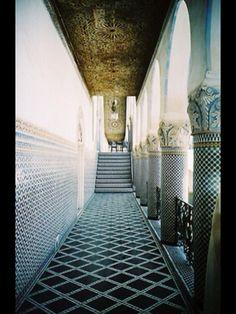 Beautiful tile work in this esplanade in Spain.