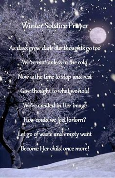 Image result for solstice prayer winter