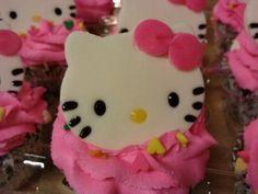 Hello Kitty cupcakes for Ava!