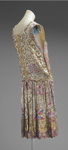 Evening dress House of Patou  (French, founded 1919) Designer: Jean Patou (French, 1887–1936) Date: ca. 1927 Culture: French Medium: silk, glass, metallic thread, plastic
