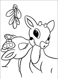 Rudolph the Red-Nosed Christmas Reindeer Coloring Pages