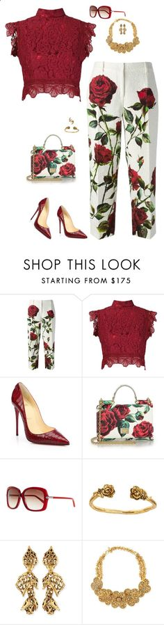 Dolce and lace by riquee ❤ liked on Polyvore featuring DolceGabbana, Martha Medeiros, Christian Louboutin, Tom Ford, Alicia Marilyn Designs, Oscar de la Renta, Jose Maria Barrera and Tessa Metcalfe