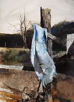 Andrew Wyeth (1917 — 2009, USA) Warm day. watercolor.  © Andrew Wyeth www.andrewwyeth.com