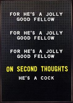 Rude Cards - For He's A Jolly Good Fellow