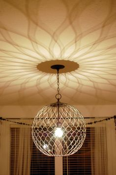 Great Light Fixture And Love The Pattern It Makes On Ceiling Dining Room Office