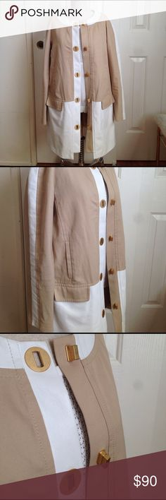 "Anthropologie Leifsdottir Left Bank Jacket Anthropologie Leifsdottir Left Bank Jacket. Shell is 100% cotton. Combination fabric is 100% leather. Lining is 100% cotton. Armpit to armpit is 18"". Length is 33"". Anthropologie Jackets & Coats"