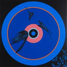 SHANE COTTON Painting (Blue Circle), 2008 Cotton Painting, New Zealand Art, Nz Art, Maori Art, Scribble, Art Inspo, Art Projects, Doodles, Creatures